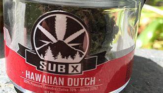 Marijuana Review: Hawaiian Dutch by Sub X